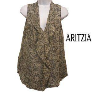 AritziaT. BABATON Ainsley Floral Silk Blouse